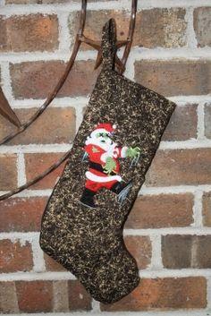 Zombie Santa Christmas Stocking