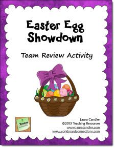 Free - Easter Egg Showdown Review Activity from Laura Candler's Teaching Resources - Includes directions and task cards