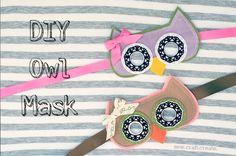 DIY Owl Mask Coats and Clark
