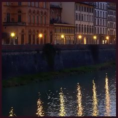 Twilight Along the Arno, Firenze by Rita Crane Photography, via Flickr