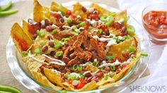Grab the napkins and dig into meatless nachos piled high with Cajun flavor! #MeatlessMonday