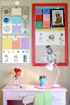 Cute and organized children's desk space