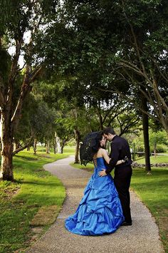 That blue wedding gown! My heart...