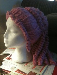 Tutorial on hw to make Victorian SteamPunk clown wig out of yarn