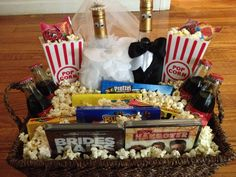 Engagement gift I made. Movie themed gift basket.
