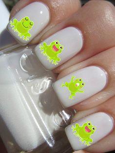So cute, neon frogs <3