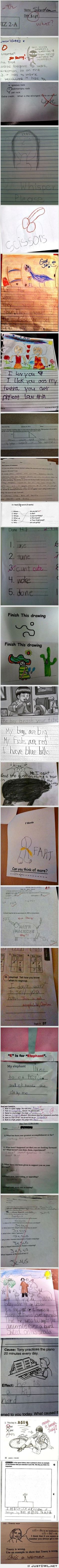#Unintentionally Inappropriate test #answers by #children
