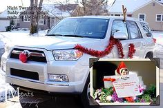 Sleigh: Buddy gets our 'sleigh' ready for the big night like the elves at the North Pole did for Santa.