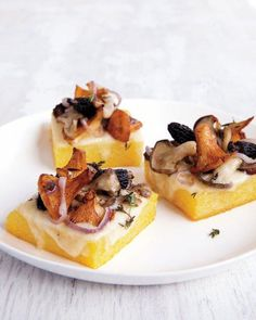 Roasted Polenta with Fontina and Wild Mushrooms Recipe
