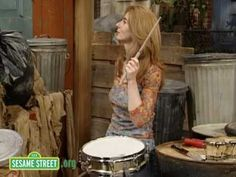 Evelyn Glennie on Sesame Street- Drumming