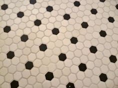Need to clean tile grout? Use a mixture of Barkeeper's Friend and water with a stiff-bristled scrub brush. | From Carrie of Hazardous Design