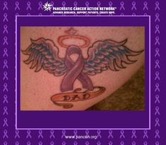 I got this tattoo in memory of my father who I lost 5 years ago to this beast. He was 54. He loved music, partying, cars and Elvis. On a daily basis I inform anyone I meet about the Pancreatic Cancer Action Network. From my purple purses, shoes, clothing and jewelry always get asked you must like purple. I am the walking billboard for the Milwaukee Affiliate. #ShowUsYourPurple  http://www.facebook.com/JointheFight/app_363537963719996