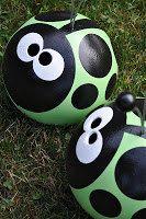 Ladybug Bowling Ball Garden Art by claireelizabeth0 on Etsy, $36.00