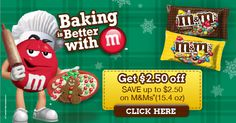 Get up to $2.50 off on 1 M&M's® Chocolate Candies (15.4 oz) when you refer your friends. #BakingIdeas