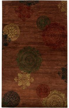 Surya Surroundings SUR 1000 Red Brown Rug
