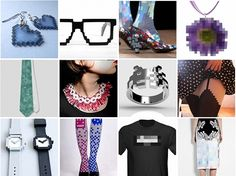 12 Pixelated Accessories for Geeky Guys and Gals