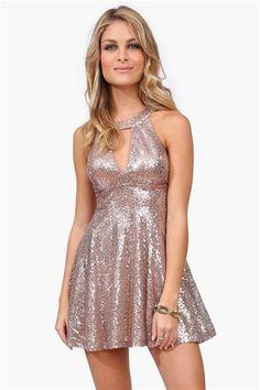 Dancing Queen Sequin Dress in Gold