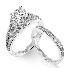 Engagement and wedding rings are worn on the third finger of the left hand because it was once thought that a vein in that finger led directly to the heart.