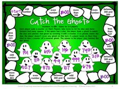 FREEBIE from Games 4 Learning - Halloween Math Board Games Freebie gives you 3 Board Games that are perfect for Halloween math activities.