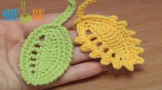 Crochet Leaf Rain Drops Tutorial 27 Reverse Single Crochet Trim Picot Trim http://sheruknitting.com/videos-about-knitting/crochet-leaf-lessons/item/256-how-to-crochet-leaf-rain-drops.html In this free crochet tutorial you will learn how to make a little leaf with chain spaces on one side that look like rain drops. You can complete the leaf making a trim of single crochet stitches and picots or make a reverse single crochet trim. Both way are nice. Thanks for watching!