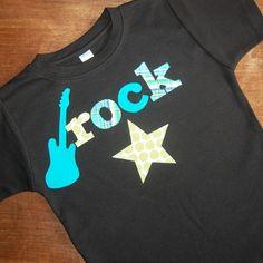 Boys birthday shirt ... Rock Star Shirt ... Boys Future Rock Star birthday tee ... rock star party. $32.95, via Etsy.