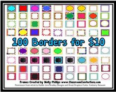 Borders Clipart and Fonts Oh