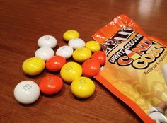 corn mms, chocolates, candy corn, white chocolate, chocol candi
