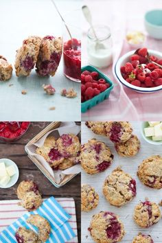gluten-free raspberry scones