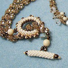 Fermoir perlé en peyote