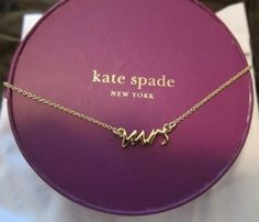 Mrs Necklace from Kate Spade... I would want this in silver :)