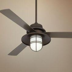 """52"""" Casa Solera Industrial Bronze Outdoor Ceiling Fan"""