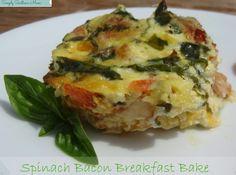 Spinach Bacon Breakfast Bake