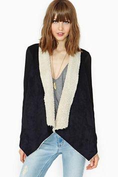Shearling Drape Jacket