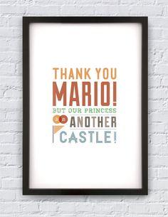 thank you mario... #mario #nintendo #castle #print