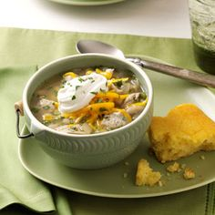 White Bean Chicken Chili Recipe from Taste of Home -- shared by Kristine Bowles of Albuquerque, New Mexico
