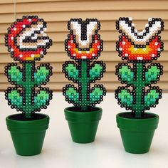 i want to make these for my office desk!  Super Mario Flowers @Cassiano Saldanha Monroe Retzlaff