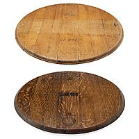 RETIRED WINE BARREL LAZY SUSAN|UncommonGoods   Love the dark stain!
