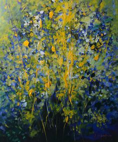Mario Zampedroni, Mimosa. http://www.zampedroni.com/tag/abstract-flower-painting/# abstract flowers painting, flower paintings, mimosa, abstract flower painting