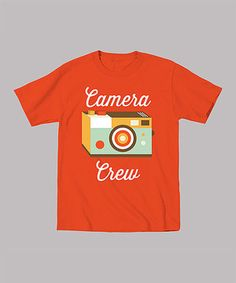 This Orange 'Camera Crew' Tee - Infant, Toddler & Kids by Mokuyobi Threads is perfect! #zulilyfinds