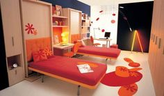 Hide away Murphy beds can quickly and easily double your space.
