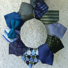 Tie wreath for little man party (or Father's Day!)
