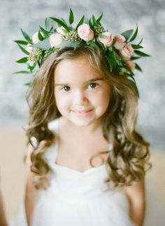 Flower girl going on