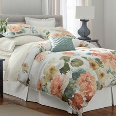 Charisma® Sonia Floral Duvet Cover, Sham & Bedskirt | The Company Store