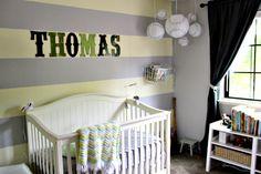 Nursery with Baseball Lanterns - Project Nursery