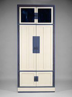 Cabinet / Koloman Moser/ ca. 1903 /  Wood, glass, pewter, paint