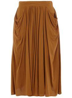 Dorothy Perkins  Camel pocket midi skirt  £28.00