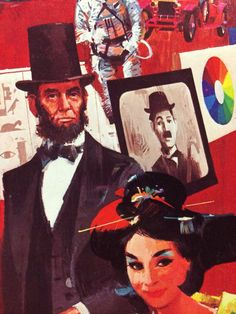 Artwork on vintage 'Facts in Five' board game.