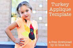 How to make a NO SEW turkey shirt (free applique download)