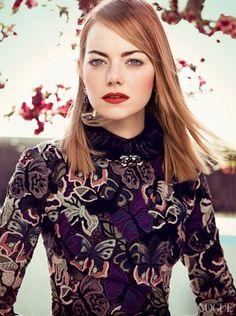 Emma Stone for Vogue May 2014 // #vogue #emmastone #beauty