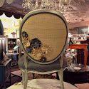 Linen and Burlap Flower Chair